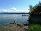 Badesteg am See