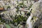 Miniatur Wunderland: Bergkulisse im Themenbereich Schweiz
